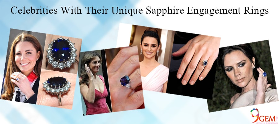 Celebrities With Their Unique Sapphire Engagement Ring